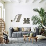 HKliving letter 'M' with antique look grey metal (AOA9011-tutze.nl)